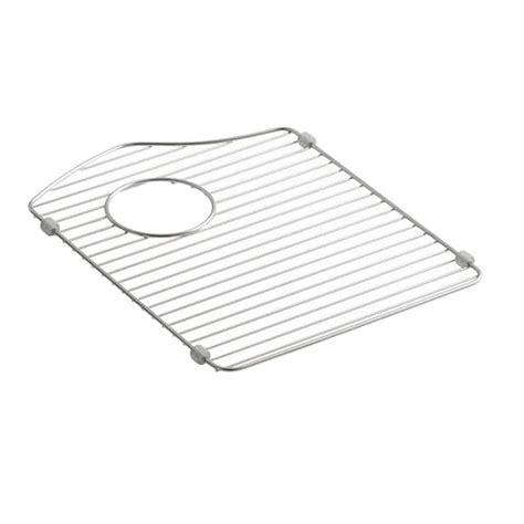 kohler anthem bottom sink basin rack in stainless steel k 6157 st the home depot