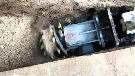 alpine tc trenching rock concrete grinder youtube