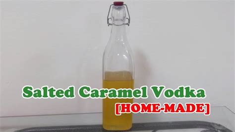 Avoid salting the rim as heavily as you would a margarita—just a touch will do. Salted Caramel Vodka - Homemade Recipe - YouTube