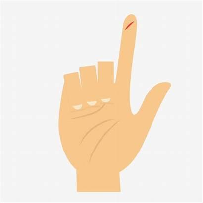 Cut Finger Hand Clipart Cartoon Clip Transparent