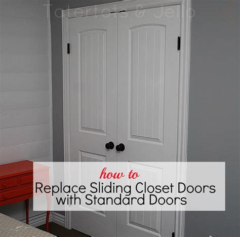 how to replace slideing closet doors with standard doors jpg