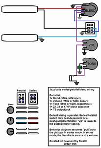 Wiring Question  Jazz Bass V  B  T   Series  Parallel