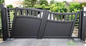 Portail Alu 4m : portail alu 2 battants portail double coulissant sfrcegetel ~ Voncanada.com Idées de Décoration