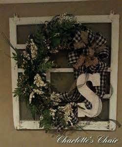 Old Screen Door with Wreath On Window