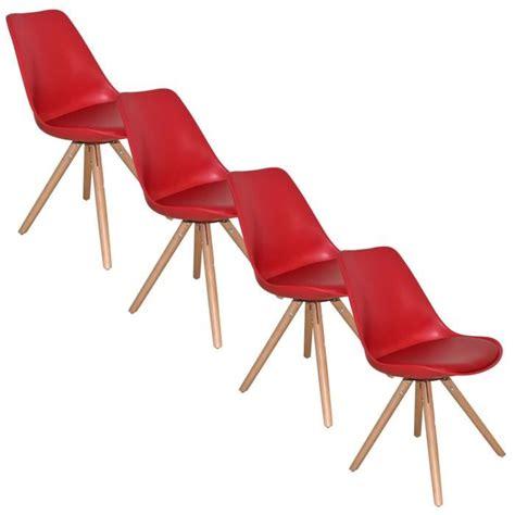 lot de chaise design lot de 4 chaises design velta achat vente chaise cdiscount