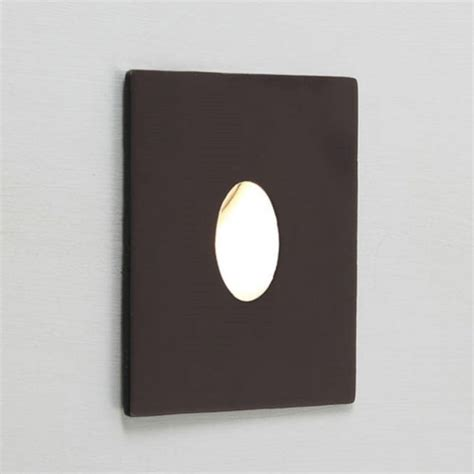small black recessed led wall light for indoor lighting