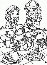 Coloring Picnic Pages Popular sketch template