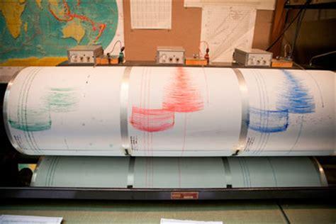 snee hall seismograph displays east coast earthquake