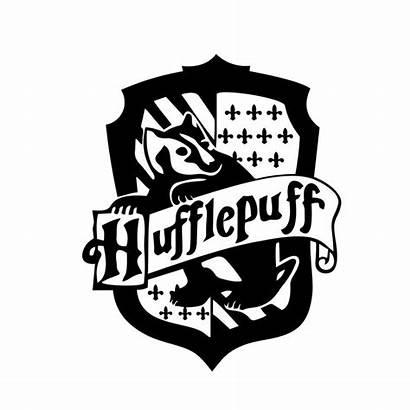 Potter Hufflepuff Harry Crest Vector Clipart Svg