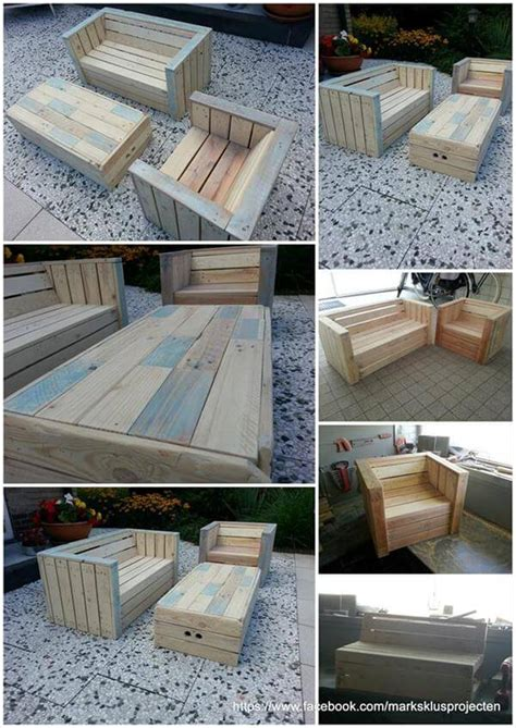 Patio Furniture Made From Pallets by Outdoor Furniture Made With Pallets 99 Pallets