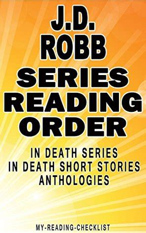 jd robb series reading order   reading checklist