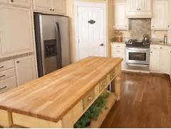 End Grain Butcher Block Plans House Design And Decorating Ideas White Kitchen With Stained Butcher Block Island Design I Would Extend Butcher Block KItchen Island Traditional Kitchen Oakley Home Kitchens The Double Island Design ManifestDesign Manifest