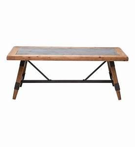 Table Basse Hauteur 60 Cm : table basse college 120x60 kare design composition bois pin cire mdf bois compresse fer ~ Nature-et-papiers.com Idées de Décoration