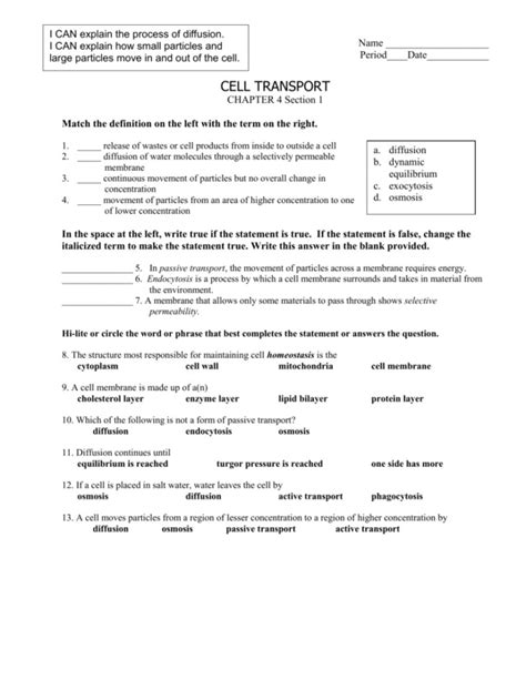 diffusion and osmosis worksheet answers homeschooldressage