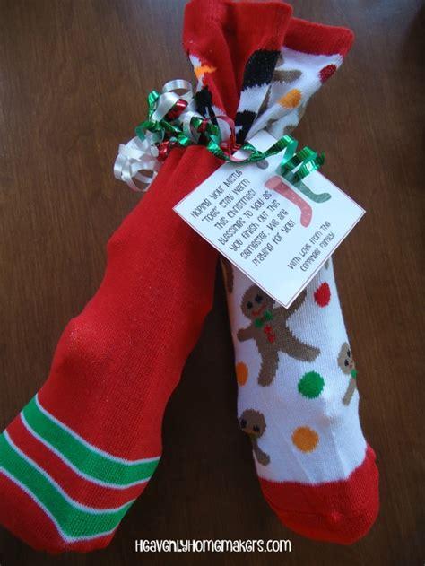 sock gift exchange socks gift idea