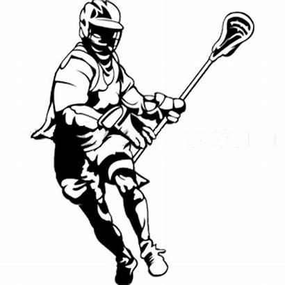 Lacrosse Clipart Silhouette Drawing Clip Sticks Field