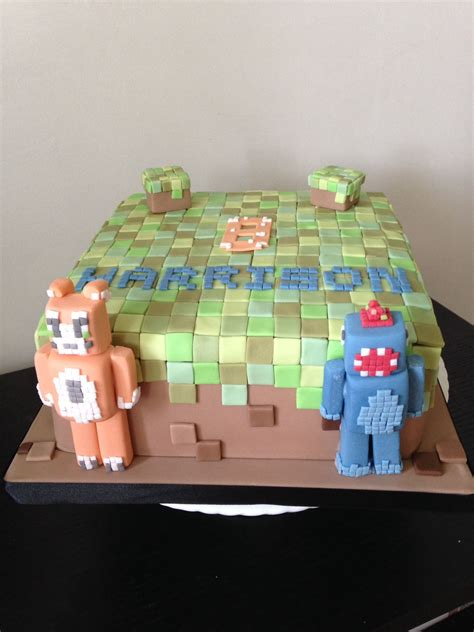minecraft birthday cake  stampylongnose  ballistic