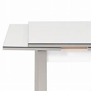 Designer Esstisch Weiß : esstisch ausziehbar mit edelstahl fuss m bel und heimat design inspiration ~ Indierocktalk.com Haus und Dekorationen