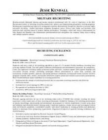 it recruiter resume format exle recruiter resume free sle