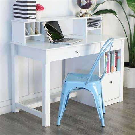 shop  computer desk  hutch white  shipping