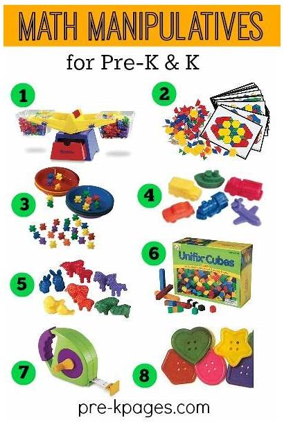 Math Centers Clipart Preschool Manipulative Manipulatives Kindergarten