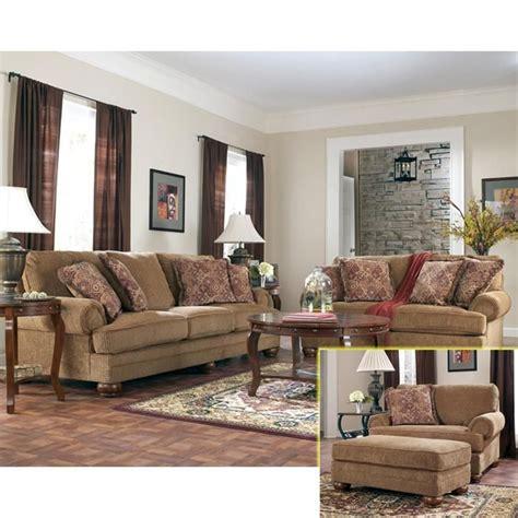 nebraska furniture mart ashley traditional brown sofa