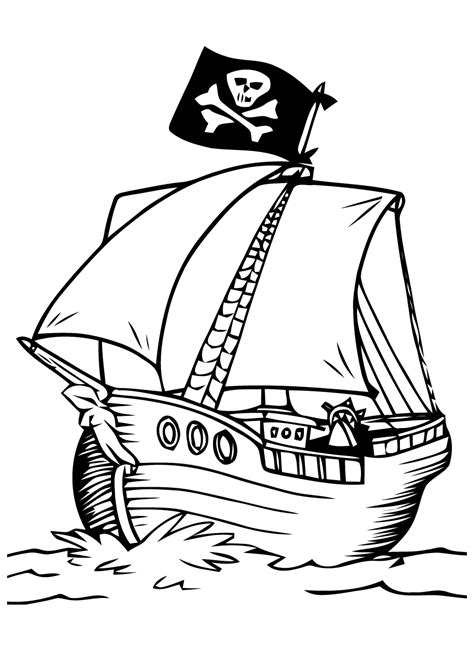 Dessin Bateau Pirate Noir Et Blanc by 14 Dessins De Coloriage Bateau Pirate 224 Imprimer