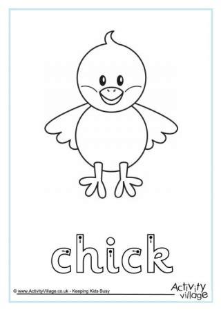 chick handwriting worksheet