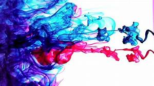 Red Blue Ink in Water - HD stock video clip