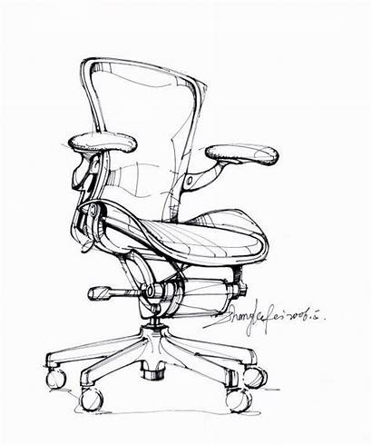 Sketch Furniture Sketches Drawing Industrial Steel Chair