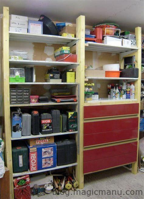 bureau pliant rangement dans le garage