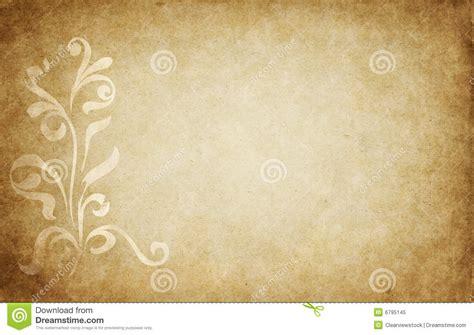 cornici pergamena da stare pergamena con il disegno floreale illustrazione vettoriale