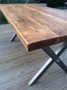 Table Bois Massif Brut : industriel designbois ~ Teatrodelosmanantiales.com Idées de Décoration