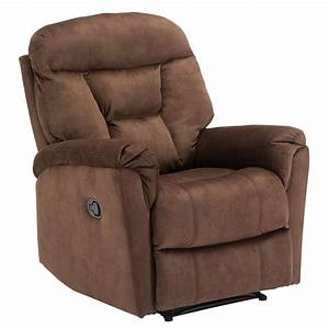 Recliner Fabric Overstuffed Manual Reclining Sofa Chair