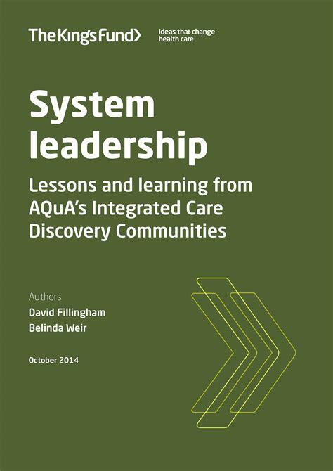 system leadership  kings fund