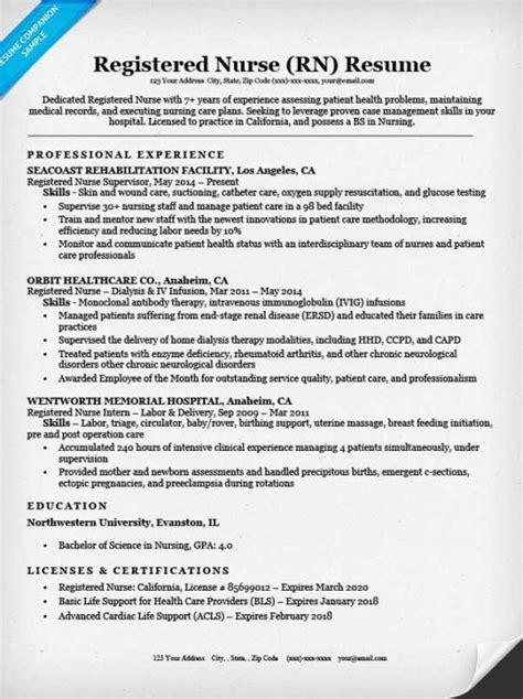sample resume licensed practical nurse registered nurse rn resume sample tips resume companion