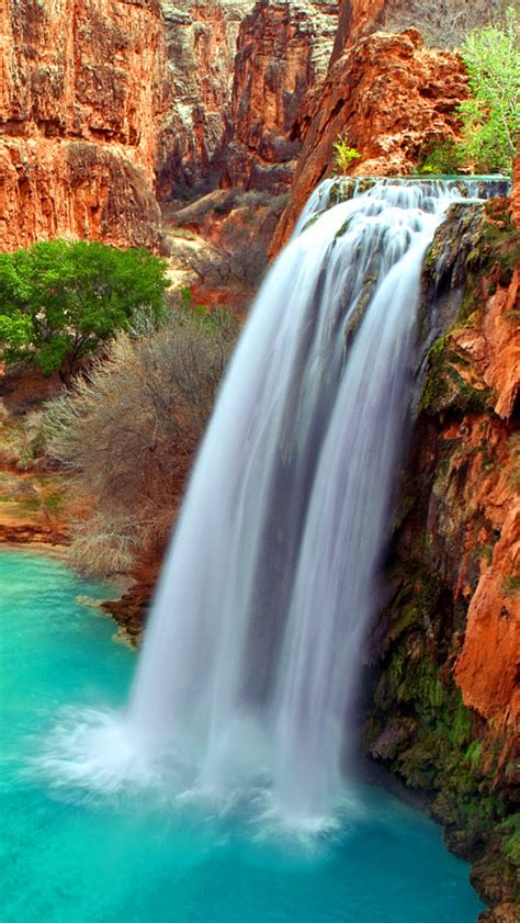 arizona waterfalls iphone wallpaper hd