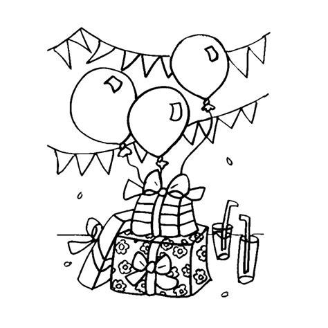 Kleurplaat Clown Met Ballonnen by Leuk Voor Verjaardagkadootjes Slingers En Ballonnen