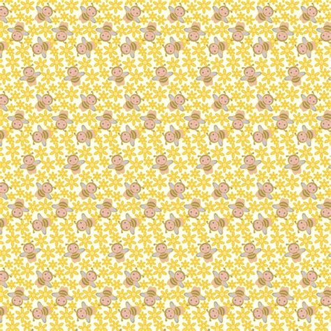 bee cartoon tile  background picture