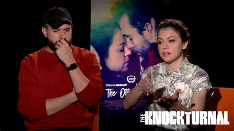 tom cullen the other half tatiana maslany and tom cullen talk the other half youtube
