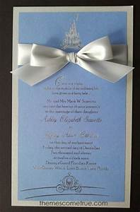 an idea for cinderella themed wedding invitations really With disney style wedding invitations