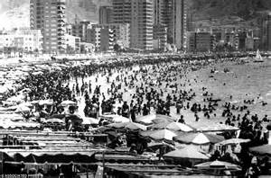 how benidorm s beaches were packed with brits in the 1906s newsgrio