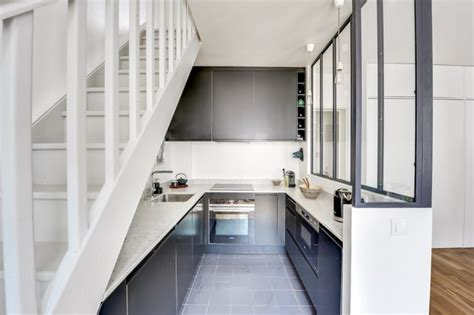 cuisine sous escalier cuisine sous escalier en u