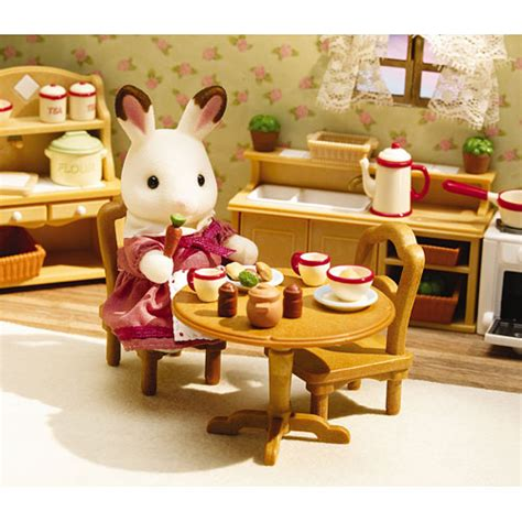 calico critters kitchen calico critters deluxe kitchen set pinwheel toys