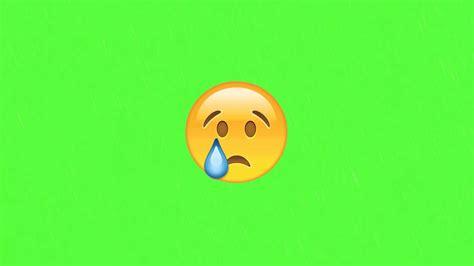 Sad Emoji (green Screen)