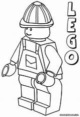 Lego Minifigures Coloring Pages Print sketch template