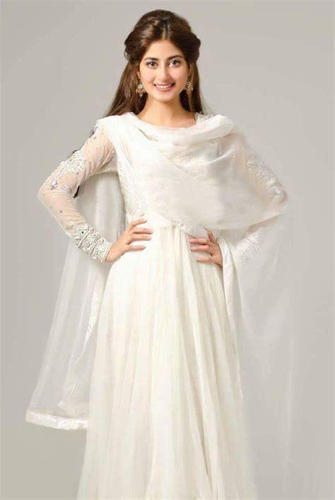 Pin By Cinderella On White Dress Design Sajal Ali