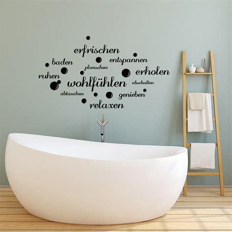 sticker citation salle de bain efrischen entspannen baden stickers citations allemand