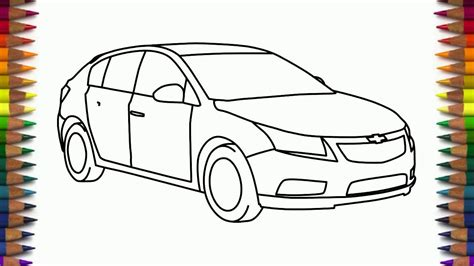 How To Draw Chevrolet Cruze Step By Step Car Drawing