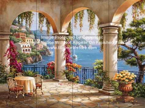 backsplash designs tuscan waterview tiles terrace arch